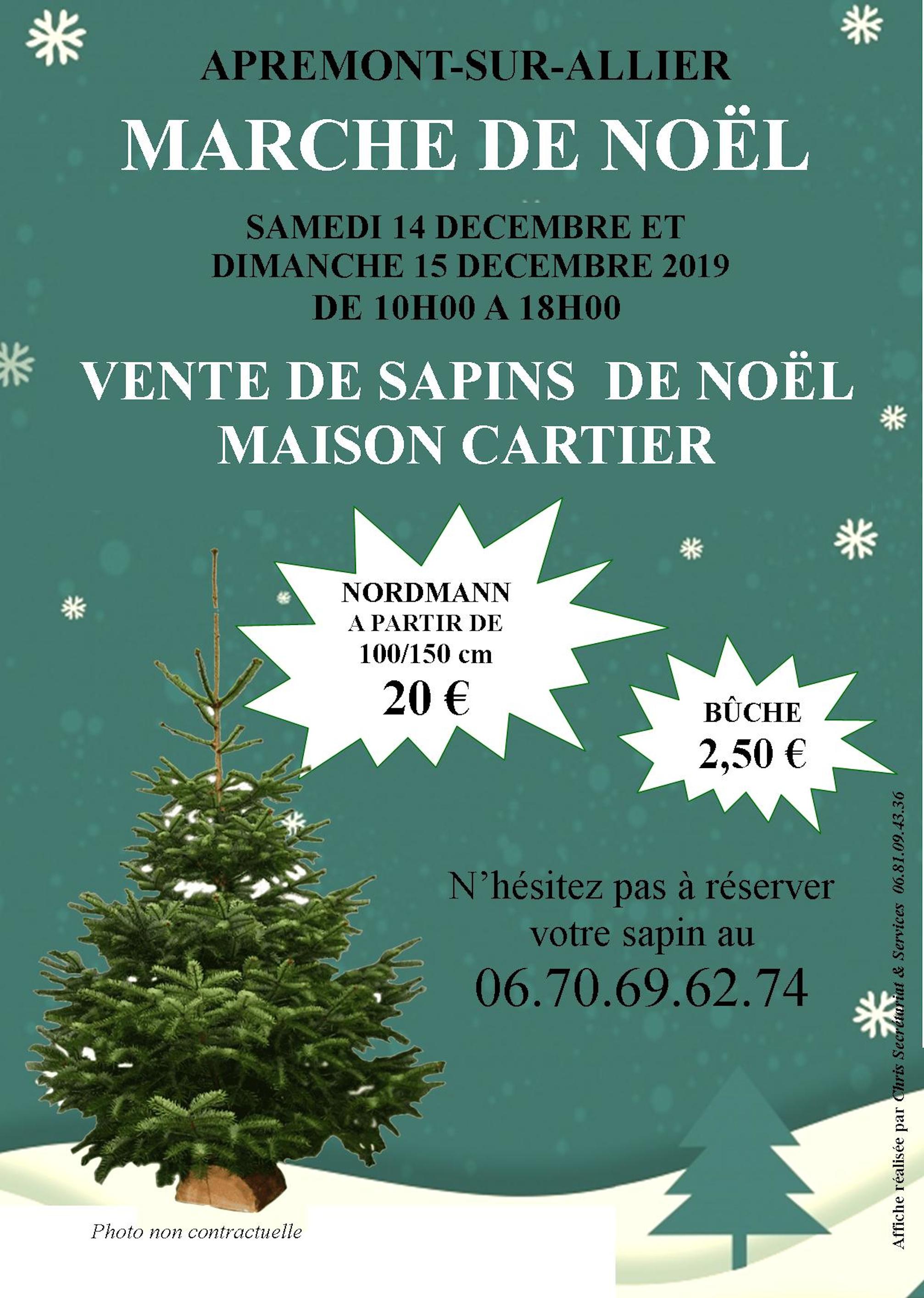 Marché Noël Sapins 2019