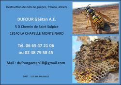 Affiche Publicitaire Société DUFOUR Gaëtan A.E.