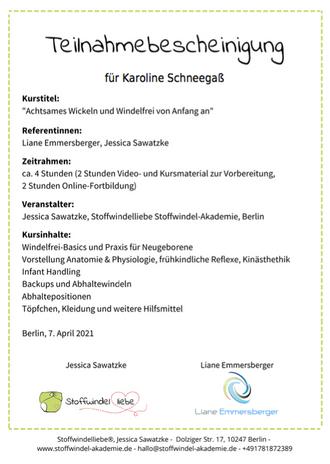 Achtsames Wickeln und Windelfrei von Anfang an /