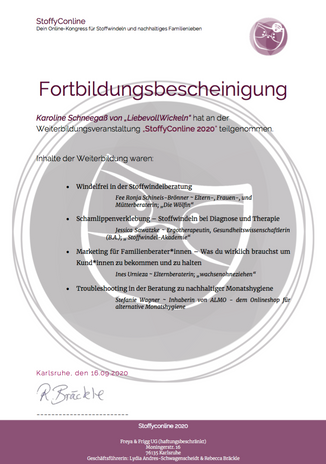 Fortbildung StoffyConline 2020