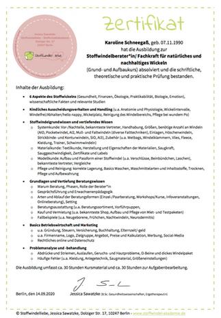 Stoffwindelberaterin / Fachkraft für natürliches und nachhaltiges Wickeln