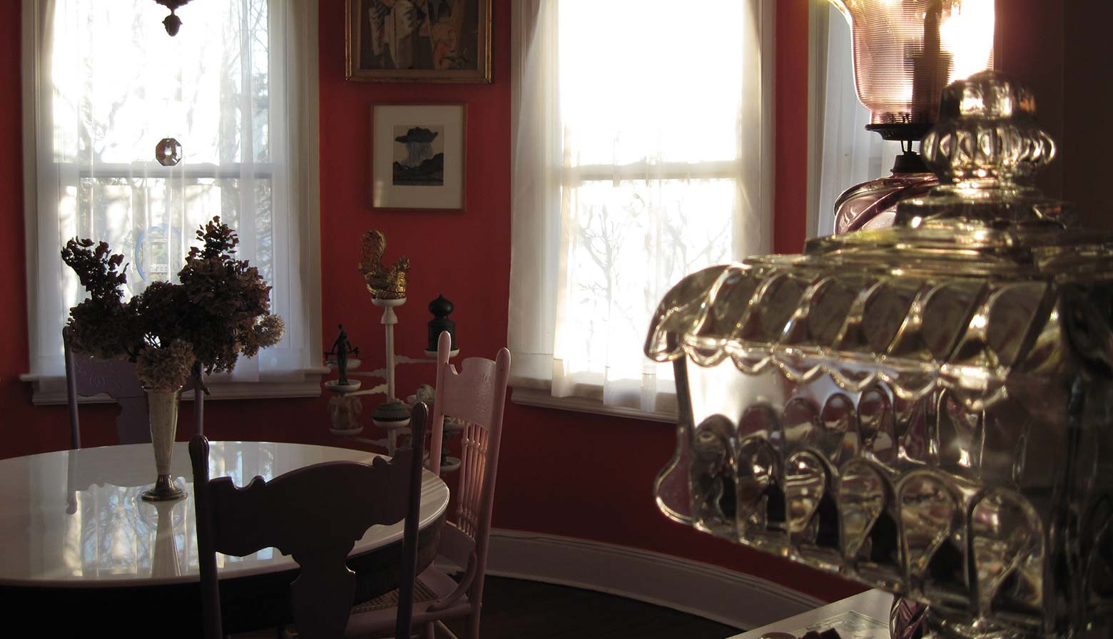 The dining room where the Ouija board sessions took place