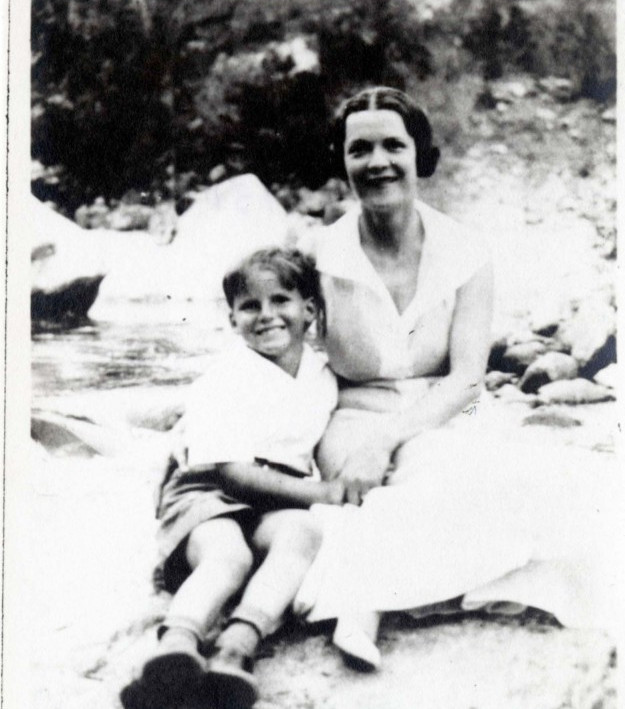 Merrill with his mother