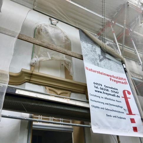 Balkonplatte, Denkmalgeschütztes Wohnhaus in Bensheim