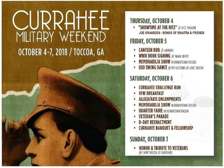 Currahee Military Weekend October 4 - 7, 2018 in Toccoa Georgia