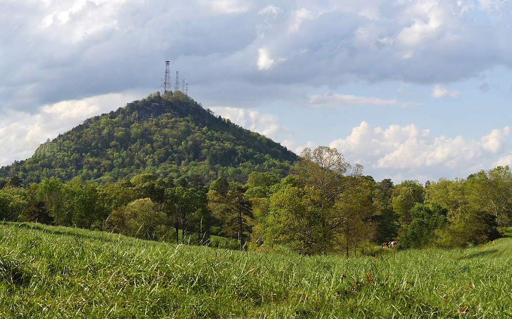 Currahee mountain in the spring