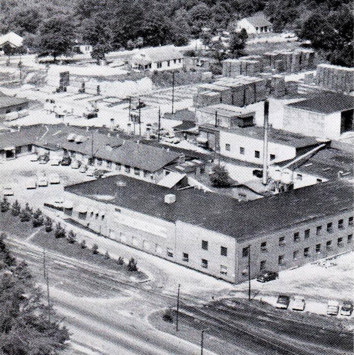 Old photo of Toccoa Casket Company