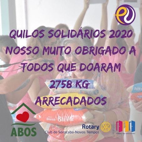 Quilos Solidários 2020