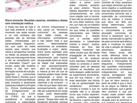 Matéria Jornal Zona Norte