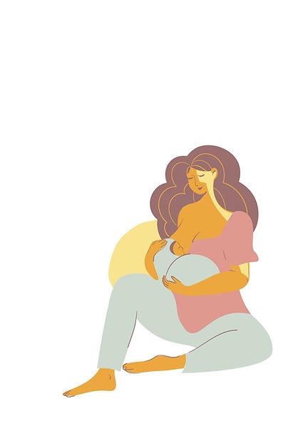 Neutral Mother's Day Breastfeeding Woman Illustration Flyer.jpg