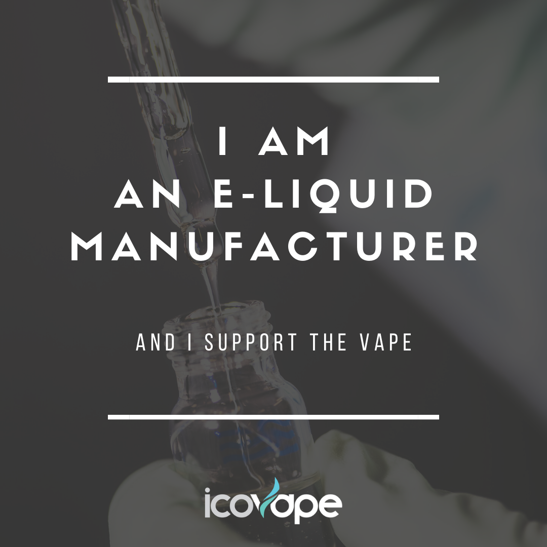 I am an e-liquid manufacturer