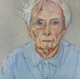 Self Portrait in Light Blue Shirt