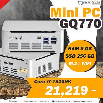 Computer Mini PC GQ770 i7-7820HK ( RAM DDR4 8 GB/M.2 SSD 256 GB/WIFI )