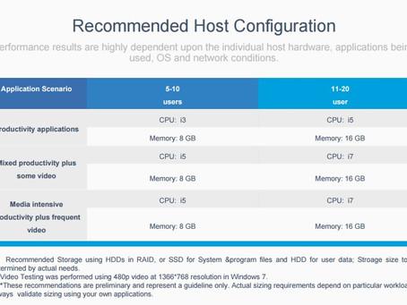 แนวทางการเลือก vCloudPoint Host PC