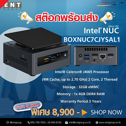 NUC7CJYSAL1   Intel® Celeron® J4005 Processor (4M Cache, up to 2.70 GHz)