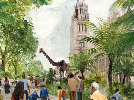I giardini intorno al Natural History Museum di Londra diventeranno patrimonio della natura urbana