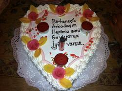 Geburtstagsgtorte in Herzform