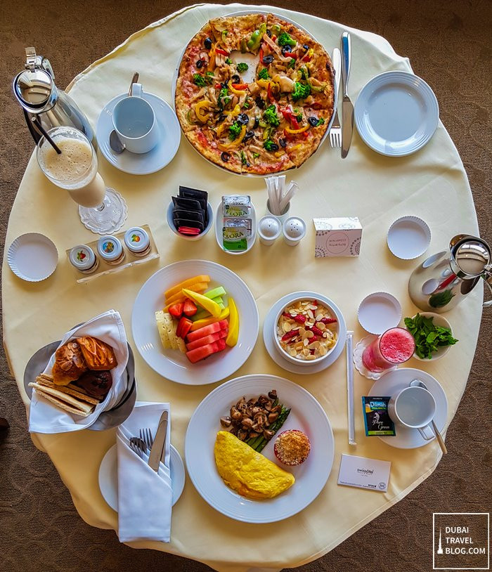 breakfast in bed at Swissotel Al Ghurair