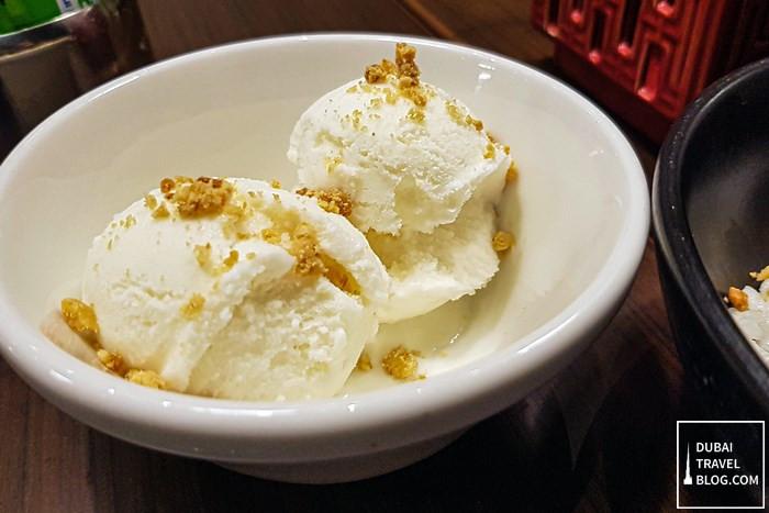 coconut ice cream wox restaurant