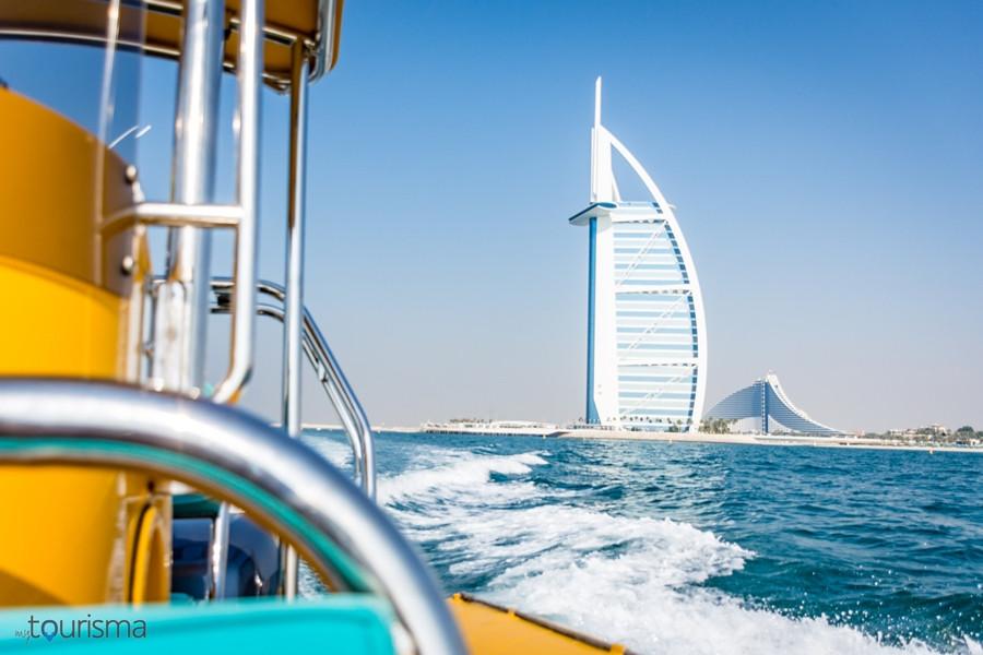 The Yellows Boats Burj Khalifa