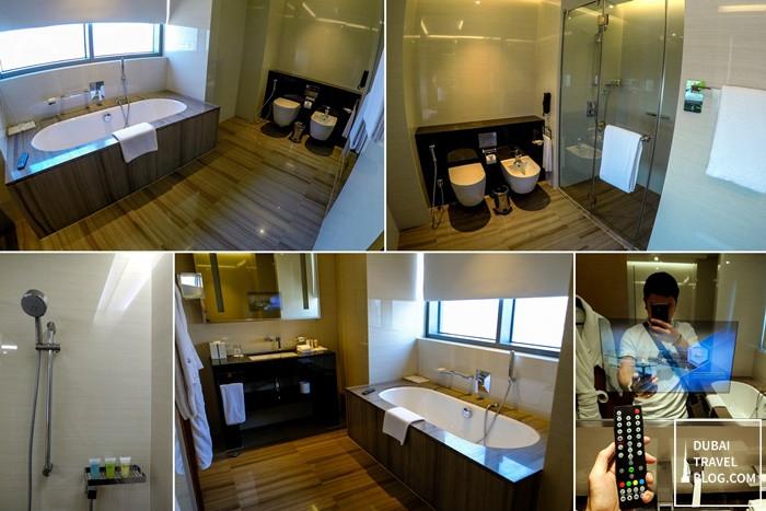 hyatt regency dubai creek heights bathroom