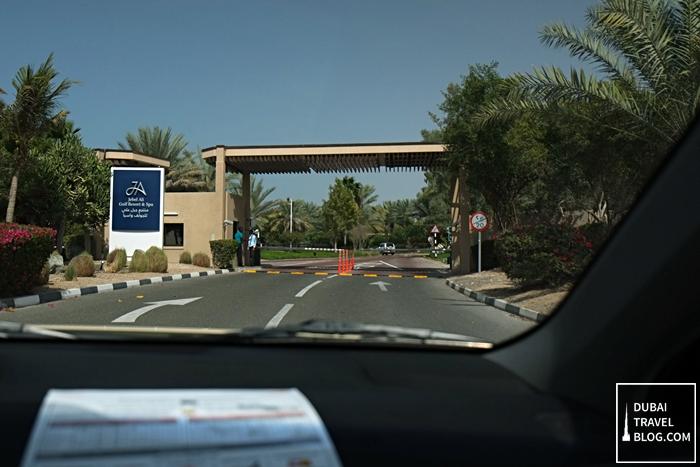 jebel ali golf resort and spa entrance