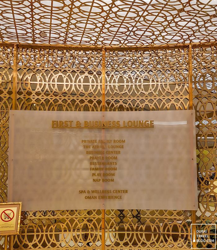 first and business lounge muscat oman