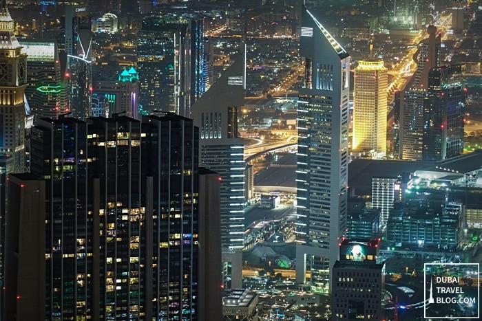 buildings dubai at night
