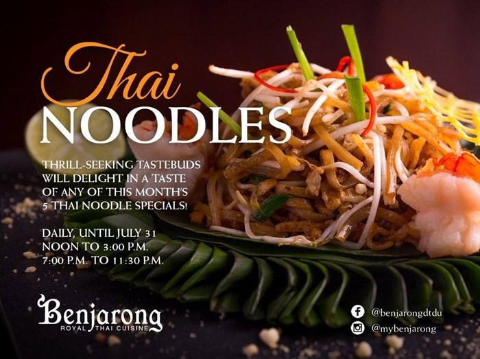 Thai Noodles Offer Dusit Thani Dubai