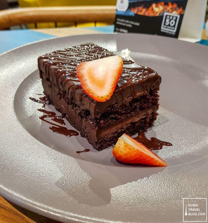 fudge cake gallery cafe hyatt place dubai wasl