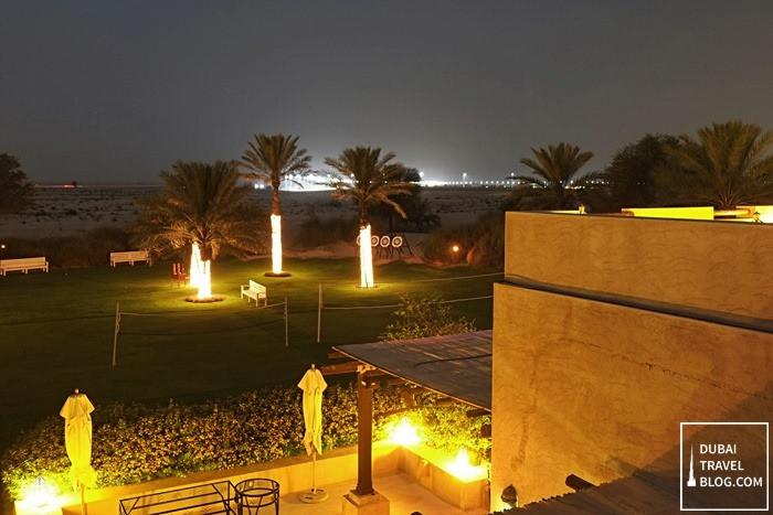 night shots in bab al shams dubai