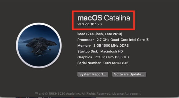 How to check the macOS version
