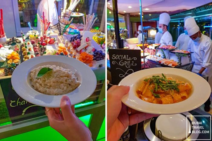 italian night buffet pergolas dubai