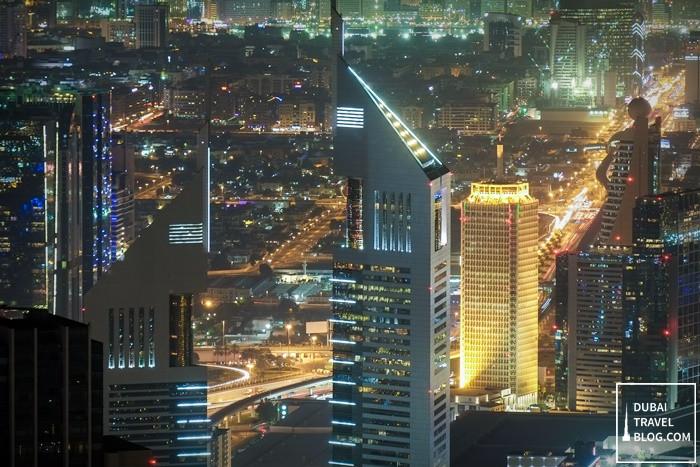 dubai buildings night time