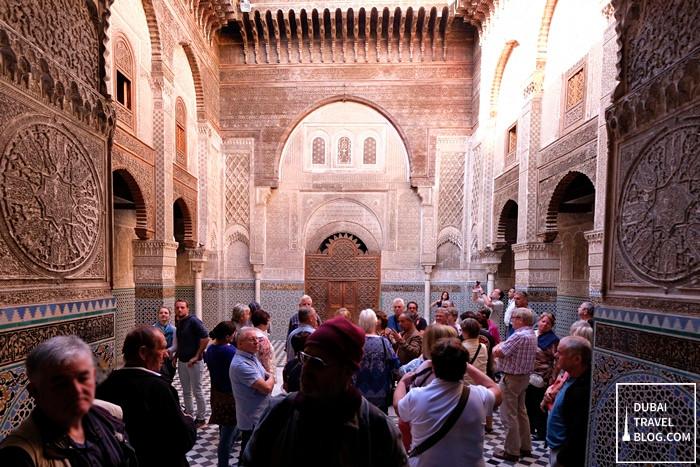 tourists al attarine madrasa