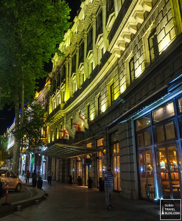 tbilis marriott hotel night