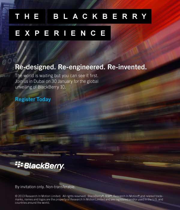 BlackBerry 10 launch Dubai