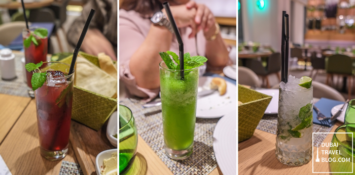 drinks-in-the-garden-grille-restaurant-dubai