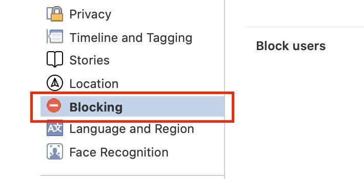 unblock a user on facebook