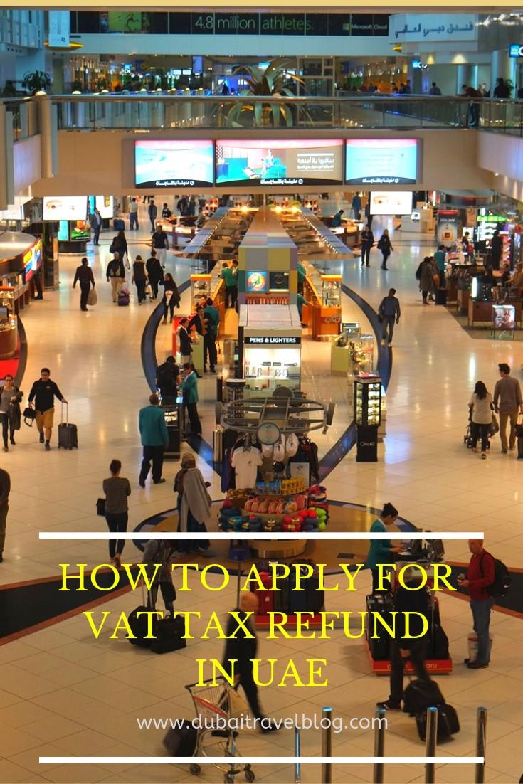 UAE Tourist VAT refund process
