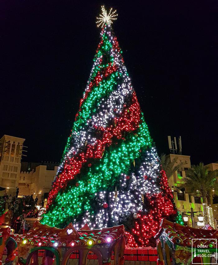 christmas tree madinat jumeirah