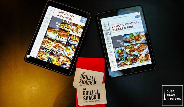 ipad menu the grilll shack