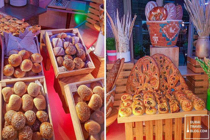 bread at pergolas restaurant dubai