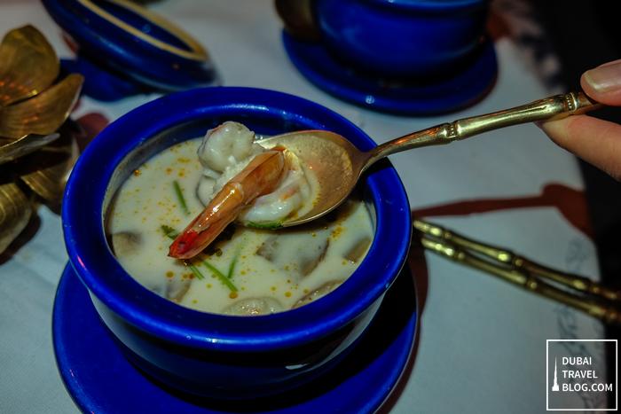 blue elephant tom yum coconut soup