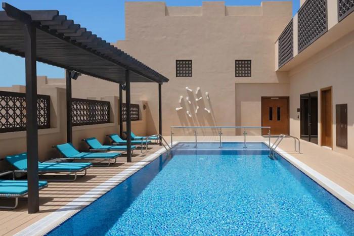 Hyatt-Place-Dubai-Wasl-District pool