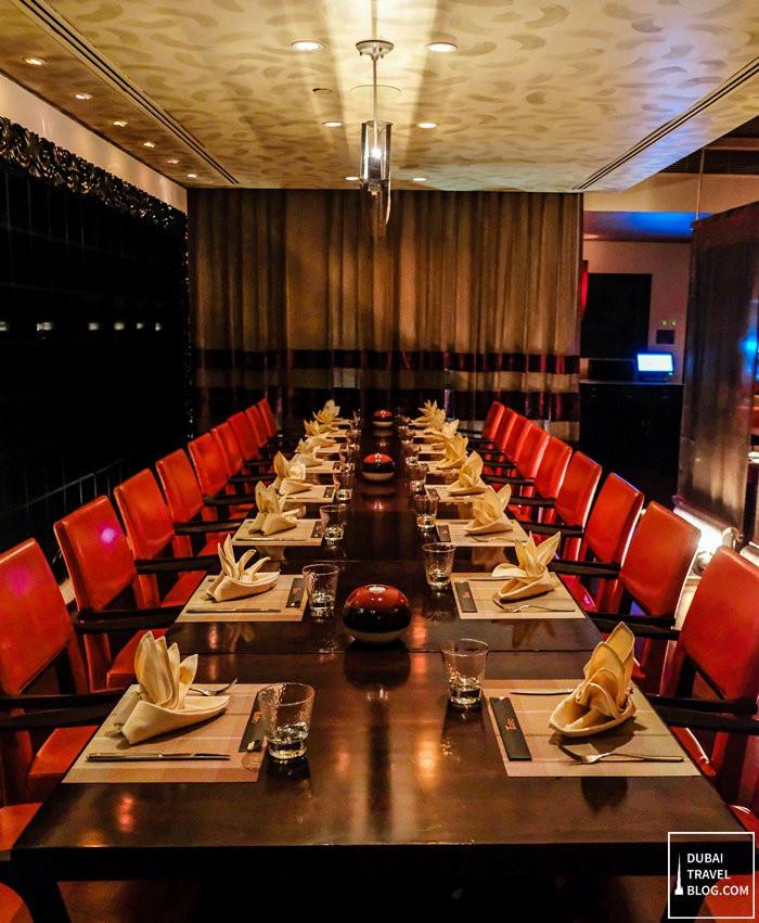 dining at Teatro Dubai