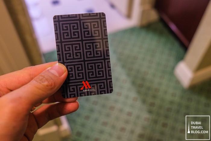marriott hotel key card