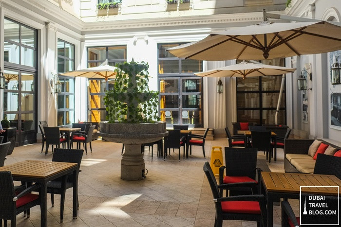 patio space at Tbilisi Marriott Hotel