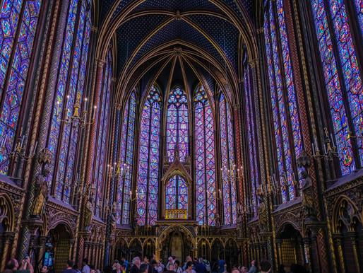 Inside the Beautiful Sainte Chapelle in Paris, France