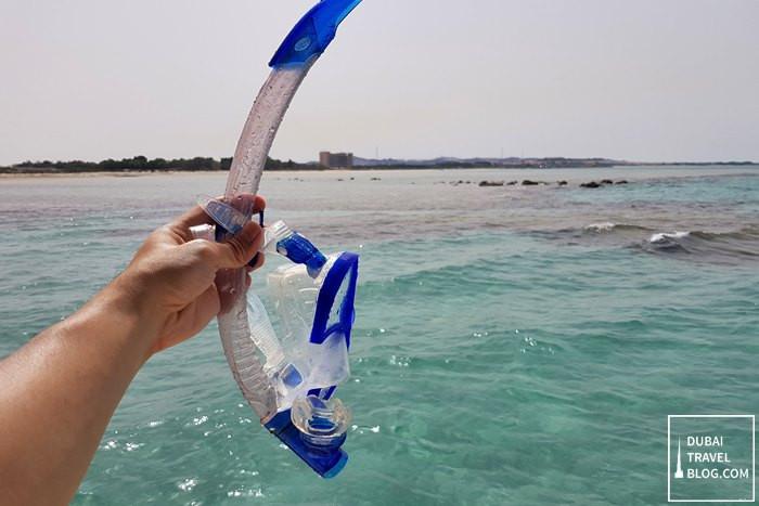water snorkelling at danat resort